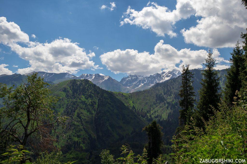 Вид на Талгарский Перевал и Чимбулак, Шымбулак