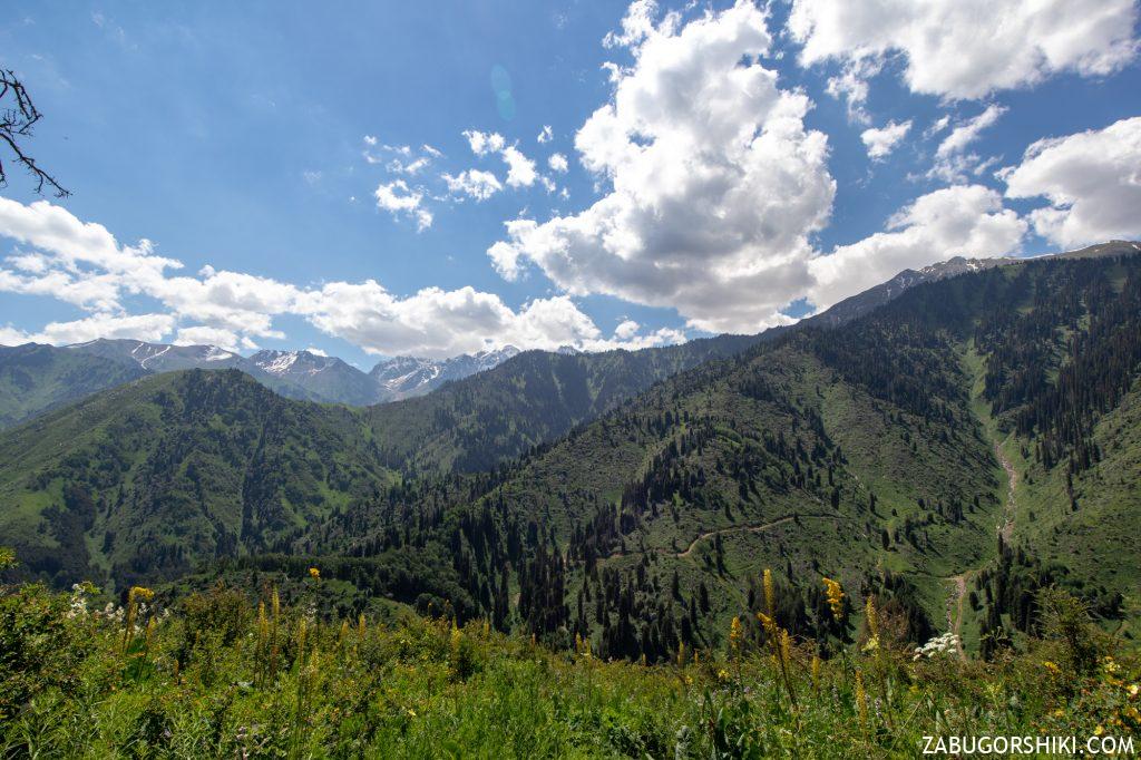 Панорама гор Алматы