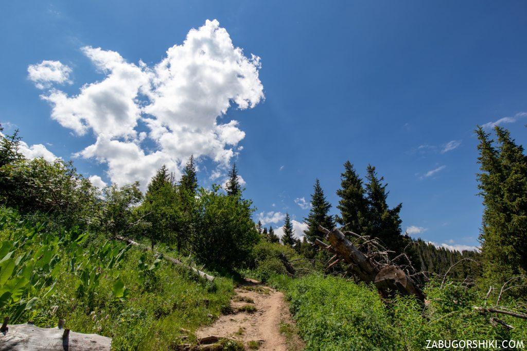 Небо в горах Алматы