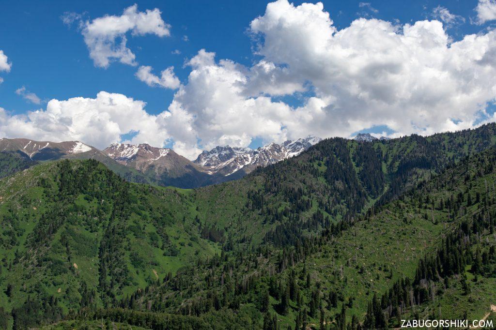 Вид на Чимбулак и Талгарский перевал.