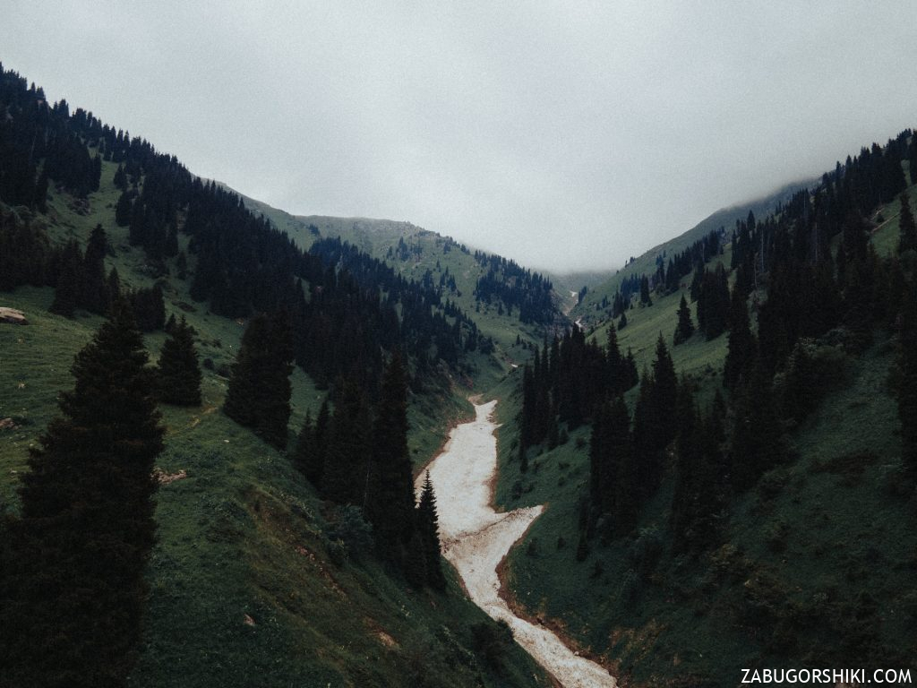 Горы Алматы с дрона