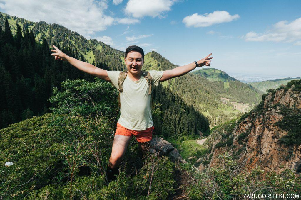 Руслан в горах Алматы