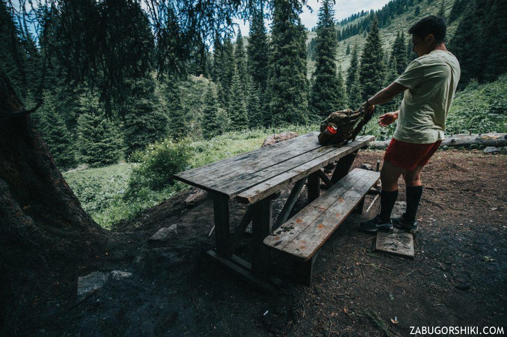 Столик в Бутаковском ущелье
